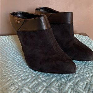 Leather and Suede Calvin Klein Booties